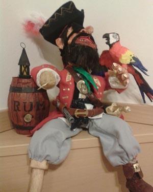luca's paper mache pirate 2