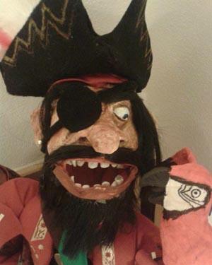 Luca's paper mache pirate