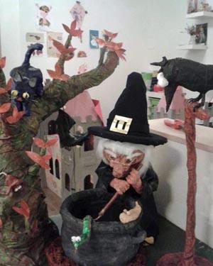 Luca's paper mache witch