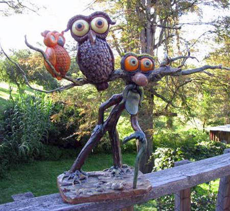 Marc's paper mache owls
