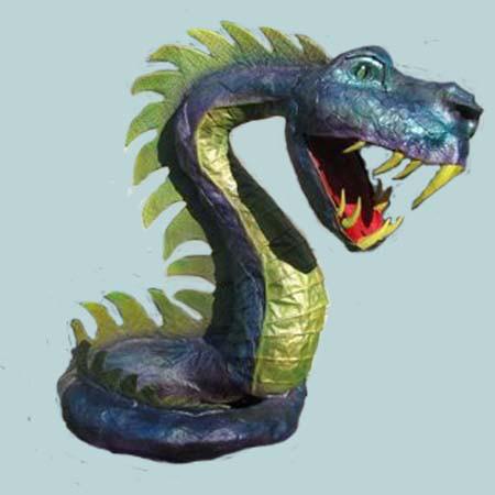 Marc's paper mache snake