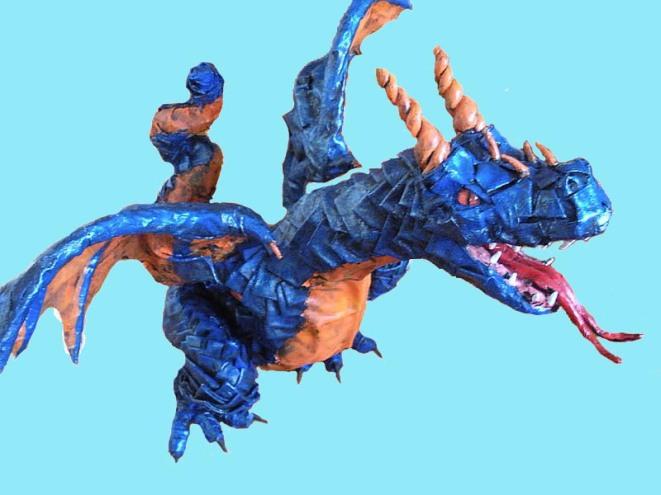 Martina's paper mache dragon