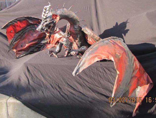 pandora's paper mache dragon