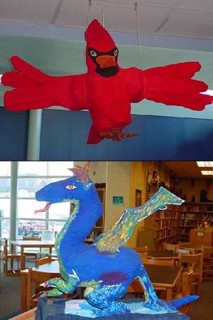 Renee Capp's paper mache art class5