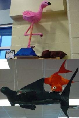 Renee Capp's paper mache art class2