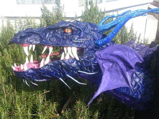 Pip's first paper mache dragon trophy
