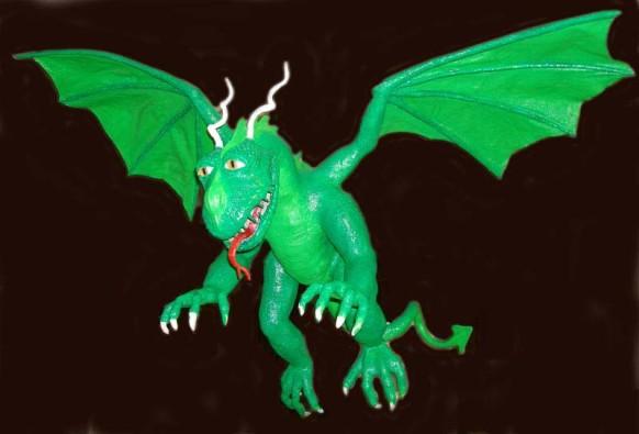 Randolph's paper mache dragon