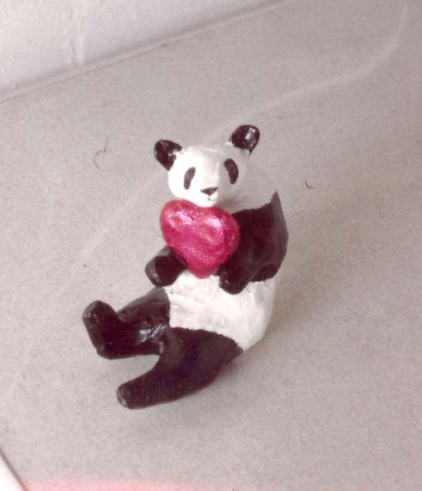 Ricki's paper mache Panda