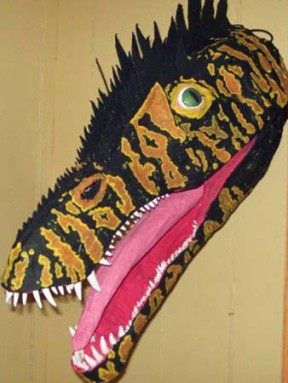 Tony's paper mache dinosaur