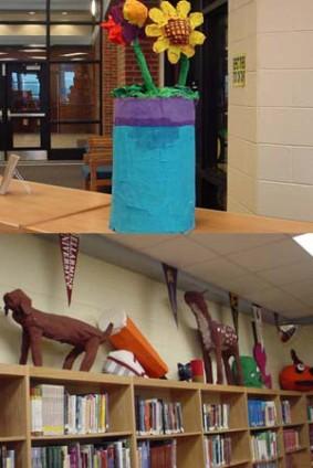 Renee Capp's paper mache art class4