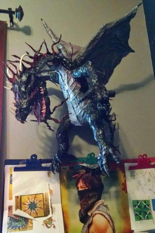 Vicki's paper mache dragon