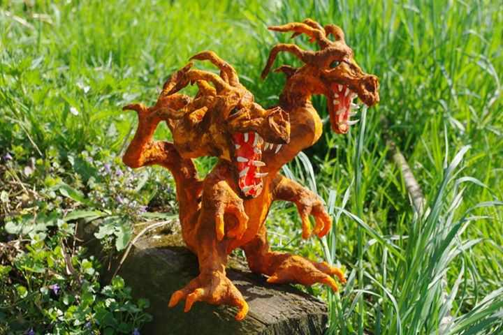 Zbigniew's paper mache two-headed dragon