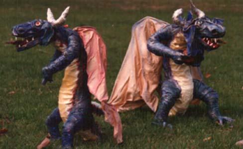 alisons paper mache dragons