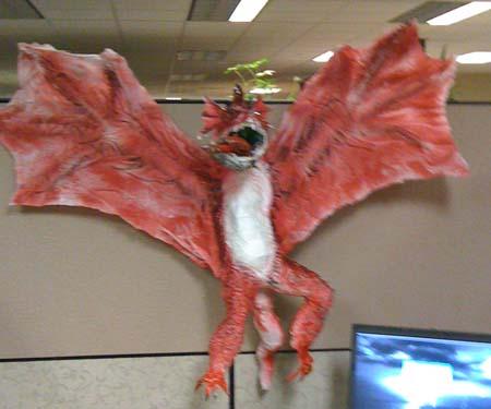als paper mache dragon 3