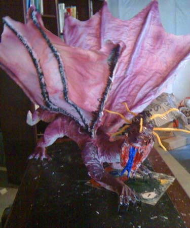 als paper mache dragon 5