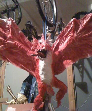 als paper mache dragon2