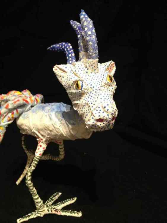 "Ann-Christine Borja's paper mache alebrije ""Dinobird"""