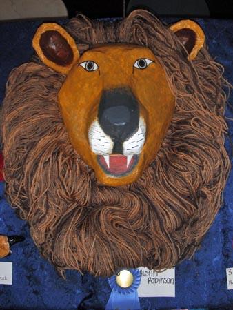 austins paper mache lion head