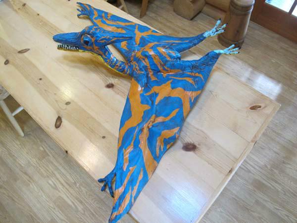 Beth Bowden's paper mache dinosaur