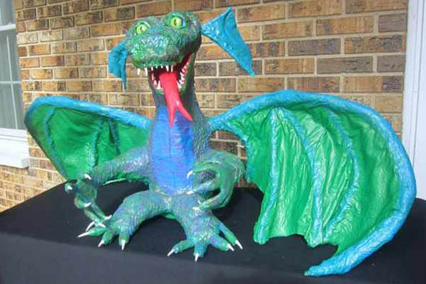 "Bill Wehmeier's paper mache ""Baby Dragon"""