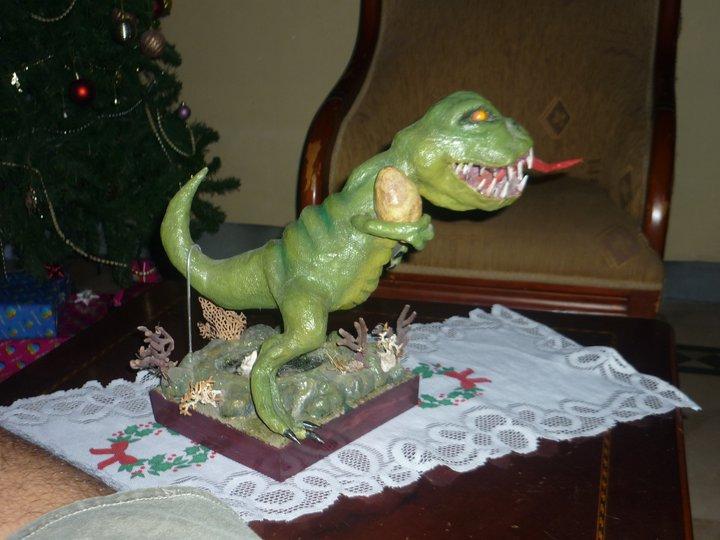 carlos paper mache dinosaur