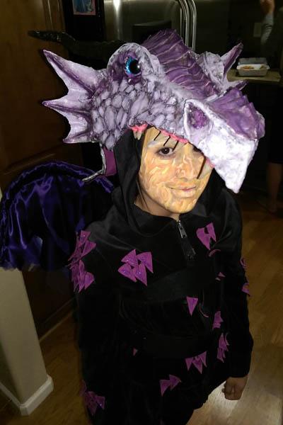 cory's paper mache costume