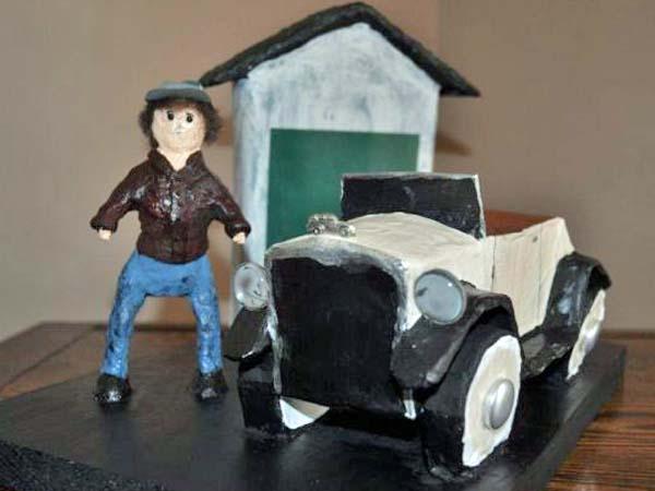 diann's paper mache car2