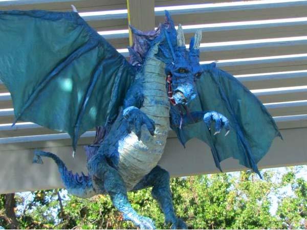 dulcie paper mache dragon