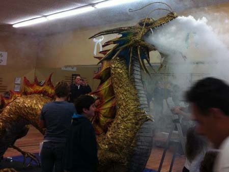 dulcies paper mache dragon