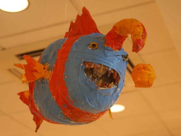 emily hamlin's sixth grade paper mache project 2