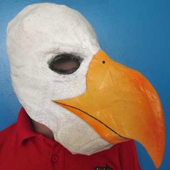 Glenn Terry's paper mache eagle mask