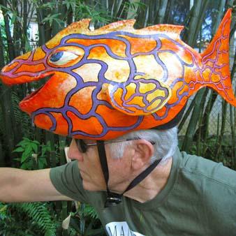 Glenn Terry's paper mache mask