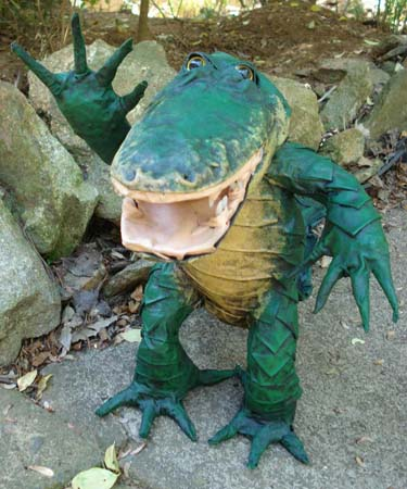 Jamie's paper mache alligator 2