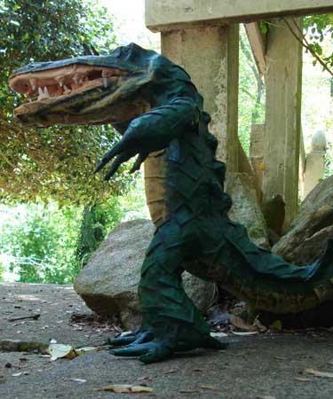 Jamie's paper mache alligator