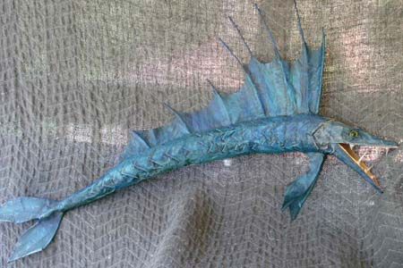 Jamie's paper mache fish