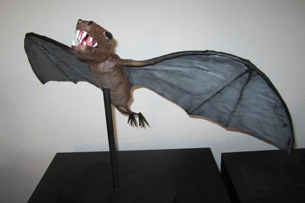 john Dawson's paper mache bat