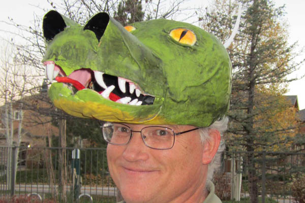 John Dawson's paper mache Dragon head cropped