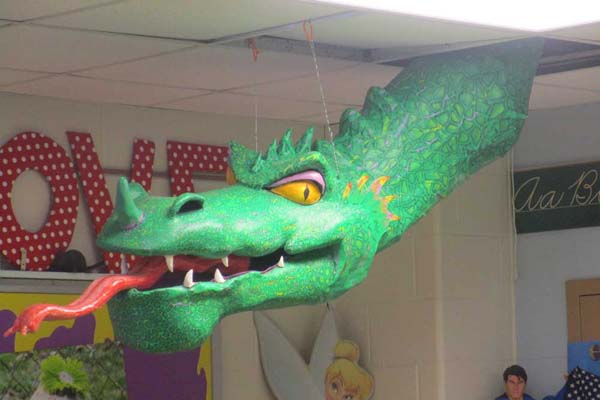 John Paul Junk's paper mache dragon