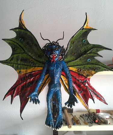 juan beltran's paper mache dark butterfly