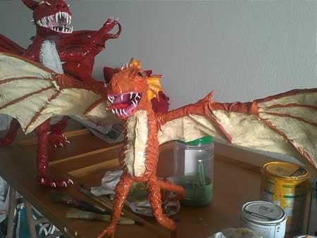 juan beltran's paper mache dragon