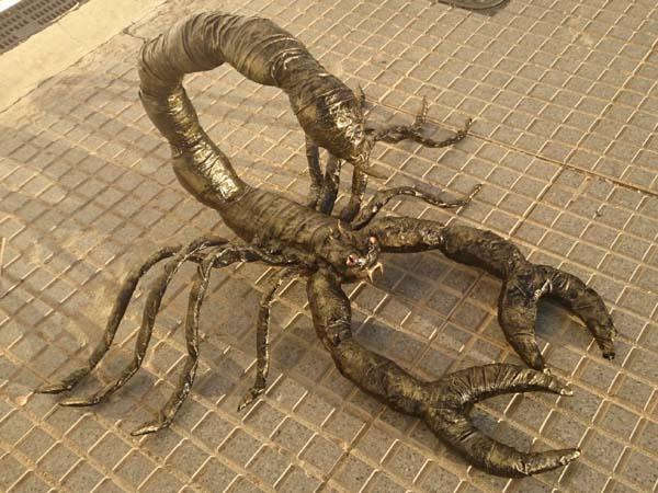 Juan beltran's paper mache scorpion