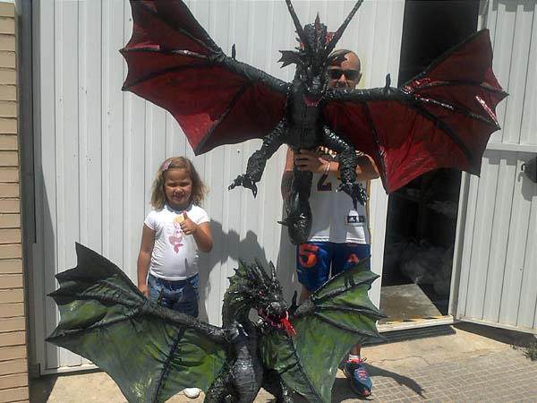 juan's paper mache dragons