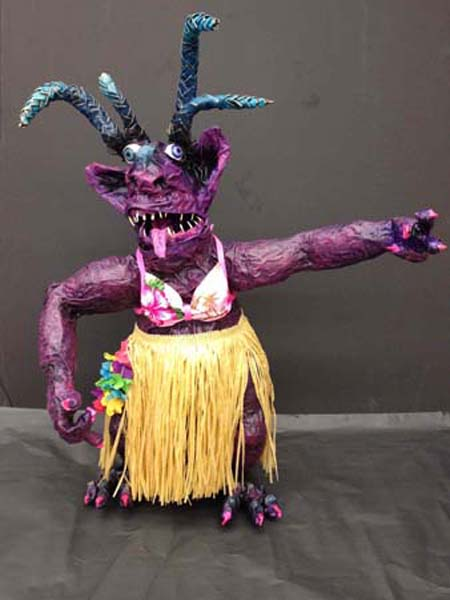 julie joest's paper mache monster front