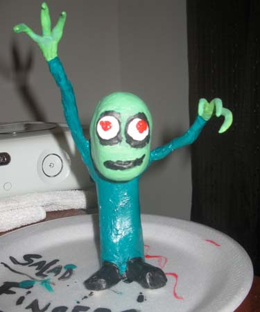 justin bonnie paper mache salad fingers