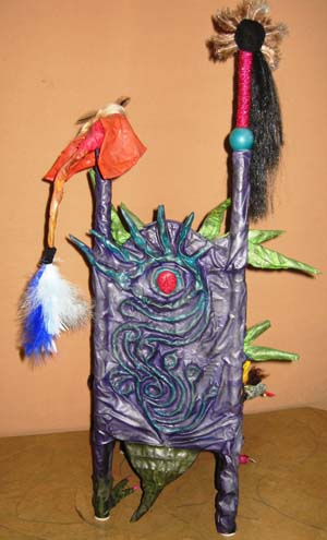 karens paper mache back of throne