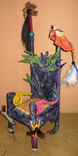 Karens paper mache throne