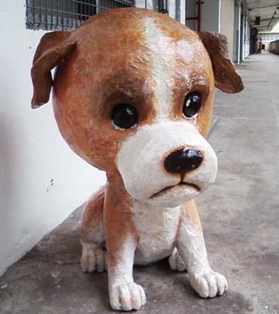 kelvins paper mache dog3