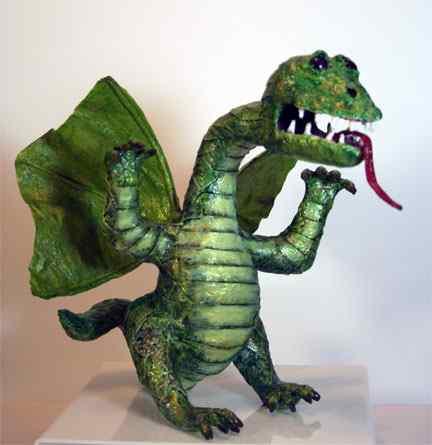 Lisa's paper mache dragon