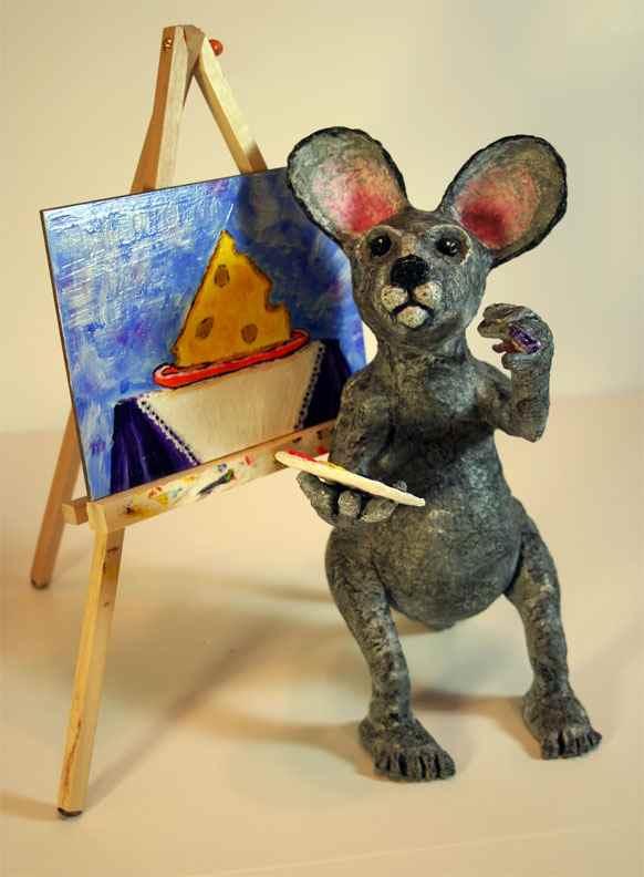 Lisa's paper mache mouse