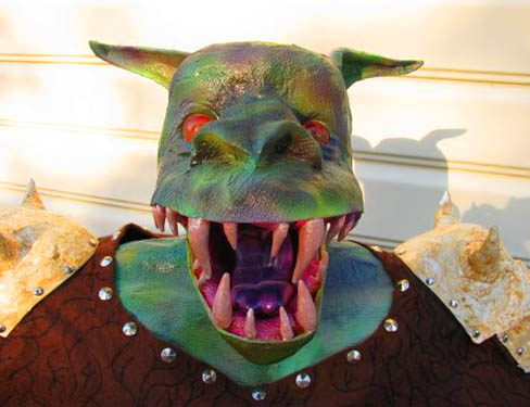 marc and griffin paper mache monster1